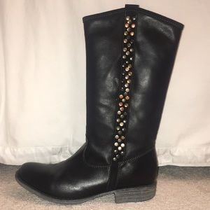 Eric Michael Black leather riding boots